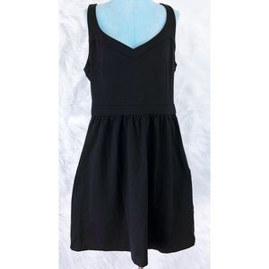 Cynthia Rowley Black fit flare dress Large
